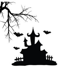 hallowen house vector image