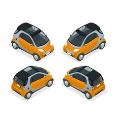 isometric hybrid car city car isolated on white vector image