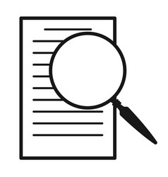 magnifying glass over document icon vector image