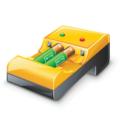 battery charger vector image vector image