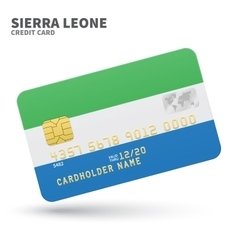 Credit card with Sierra Leone flag background for vector image
