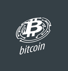 Icon bitcoin vector