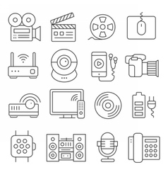 lines icons pack collection vector image