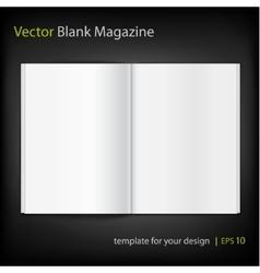 Blank magazine on black background Template vector image