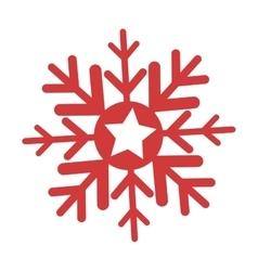 happy merry christmas snowflake icon vector image