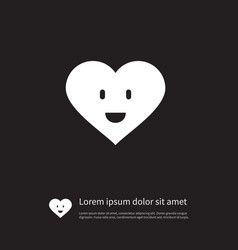 isolated smiling icon love element can be vector image
