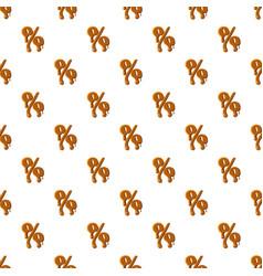 Percentage from caramel pattern vector