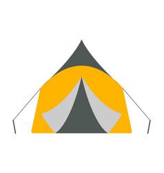 tent icon tourism equipment vector image