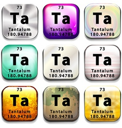 A button showing the element Tantalum vector image