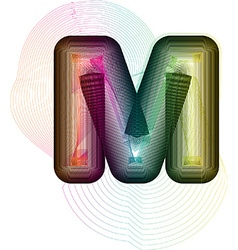Abstract colorful Letter M vector