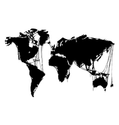 abstract grim world map halloween background vector image