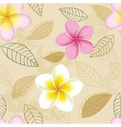 Abstract seamless pattern with plumeria flowers vector image