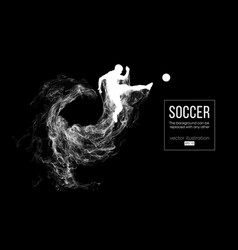 abstract silhouette football player on black vector image