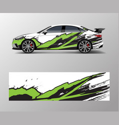 Abstract stripe for racing car wrap sticker and vector
