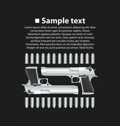 banner pistols vector image