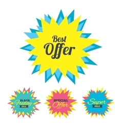 Best offer sign icon Sale symbol vector