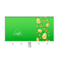 billboard for happy easter holidays calligraphic vector image