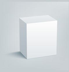 Blank isolated box mockup with shadow 1 vector