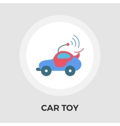 Car toy flat icon vector