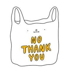 cartoon plastic bag vector image
