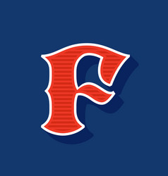 Classic style f letter sport logo vector