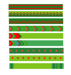 colorful christmas ribbon on white background vector image