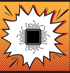 cpu microprocessor comics vector image
