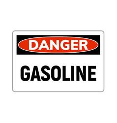 Danger fuel gasoline flammable gas icon gasoline vector