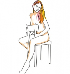 drawing female vector image