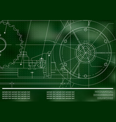 Drawing mechanical drawings on a green background vector