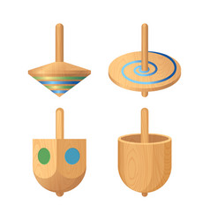 Dreidel four-sided spinning top played vector