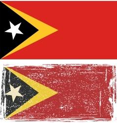 East Timor grunge flag vector