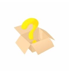 Empty box icon cartoon style vector image