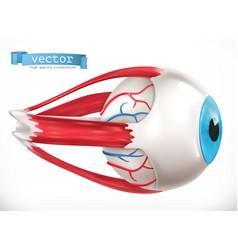 eye medicine 3d icon vector image