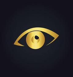 Eye watch gold logo vector