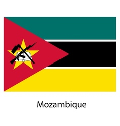 Flag of the country mozambique vector image
