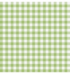 Green checkered tablecloths pattern vector image