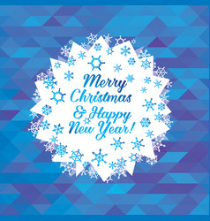 Greeting card with christmas and new year vector
