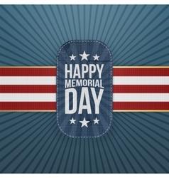 Happy Memorial Day patriotic Badge and Ribbon vector