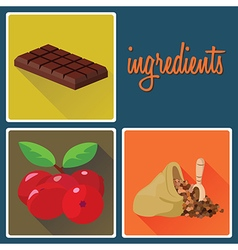 ingridients vector image
