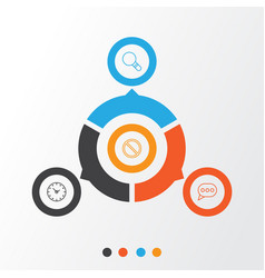 internet icons set collection of research vector image