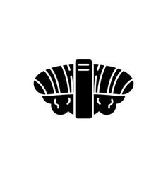 japanese sushi black icon sign on isolated vector image