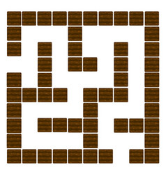 labyrinth education logic game for children soil vector image