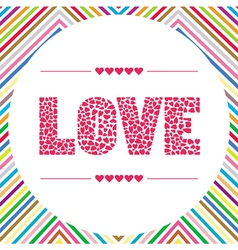 Love letter card5 vector image