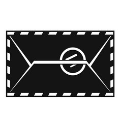 Mail envelope with a stamp icon simple style vector