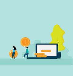 make money online concept vector image