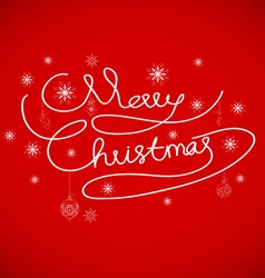 Merry Christmas card hand drawn alphabet vector
