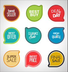 modern sale banners and labels collection vector image