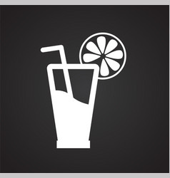 Orange juice on black backgorund vector