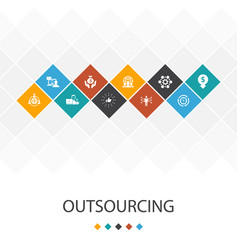 outsourcing trendy ui template infographics vector image